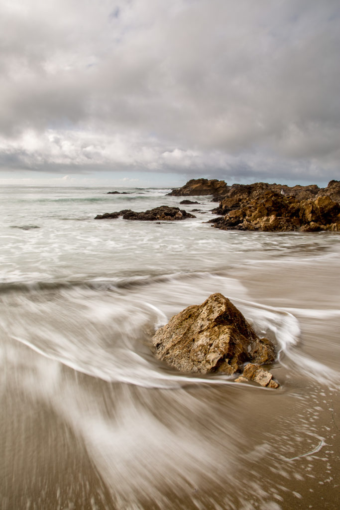Long exposure taken at Pescadero Beach in California.